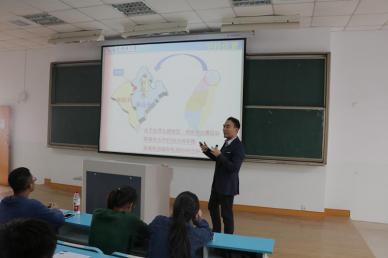 台湾龙华科技大学国际长连维志博士来我院进行交流宣讲